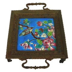 Longwy Tile in Cast Bronze Frame