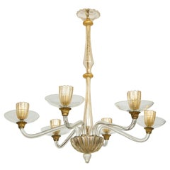 Vintage Over-Sized Six-Arm Murano Chandelier
