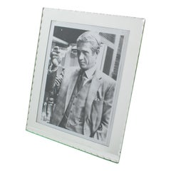 1940s French Silver Mirrored Glass Picture Photo Frame