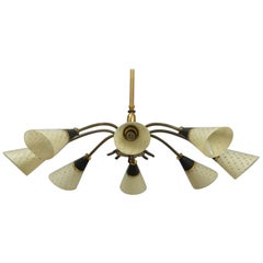 Beautiful Danish Large Midcentury Chandelier