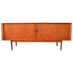 Danish Quality Peter Lovig Nielsen Teak Tambour Credenza/Sideboard Finished Back