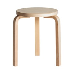 Authentic Stool 60 in Birch by Alvar Aalto & Artek