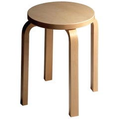Authentic Stool E60 in Birch by Alvar Aalto & Artek