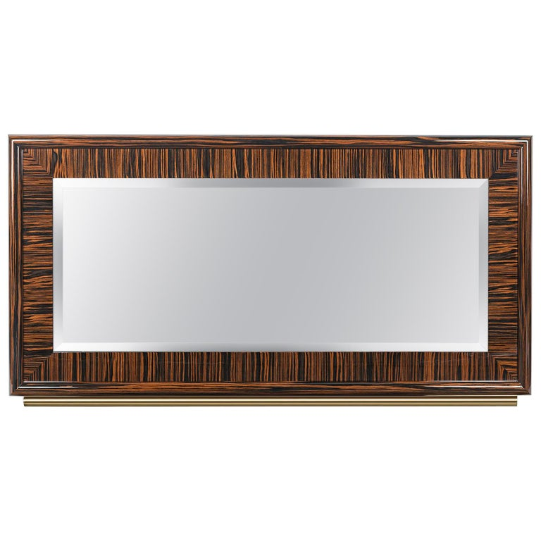Mirror Secret in Ebony and Galvanized Metal, Original Sin Collection, Italy For Sale