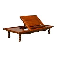 Adjustable Antique Reading Table, John Carter, Victorian, Mahogany Lectern