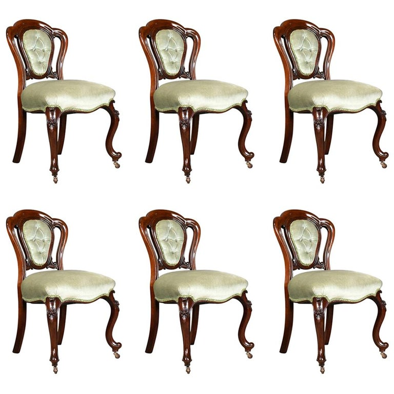 Antique Set of Six Dining Chairs, English, Regency, Mahogany, circa 1830 For Sale