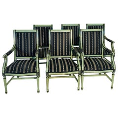 Set of Six Farmhouse Style Armchairs, 1960s