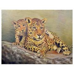 Belgian Leopards Painting, Belgium, 1968
