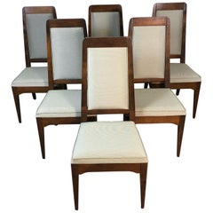 1960s Maple High Back Dining Chairs, Set of 6