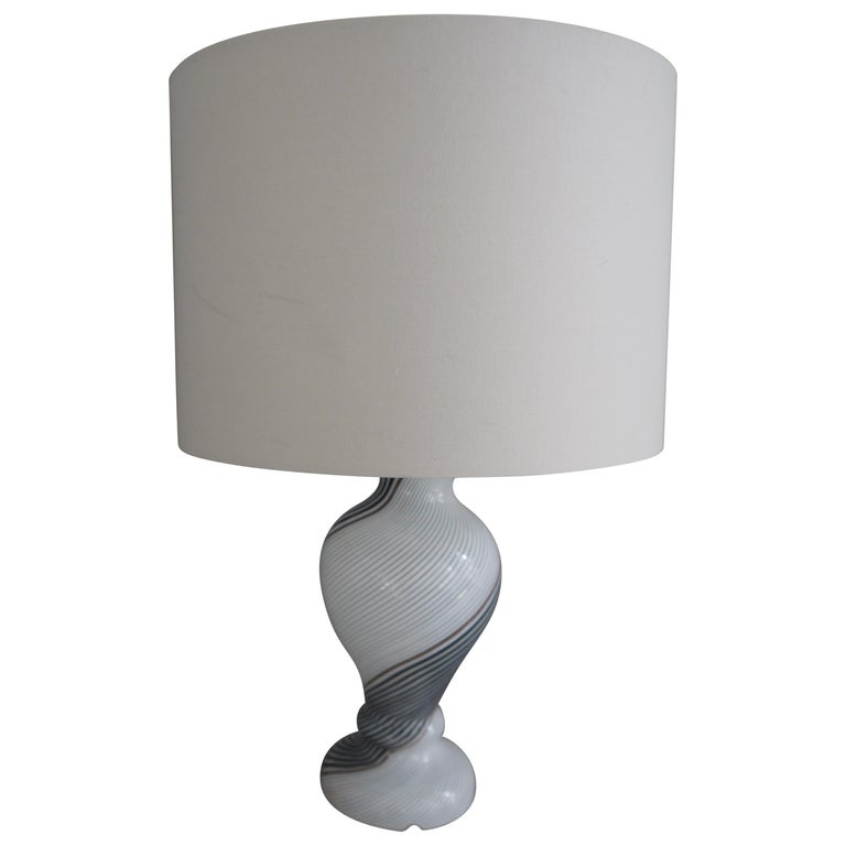 Italian Mezza Filigrana Lamp Base by Dino Martens for Aureliano Toso, 1957 For Sale