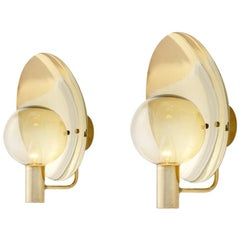 Pair of Hans Agne Jakobsson V180 Wall Lamps, Sweden, 1960s