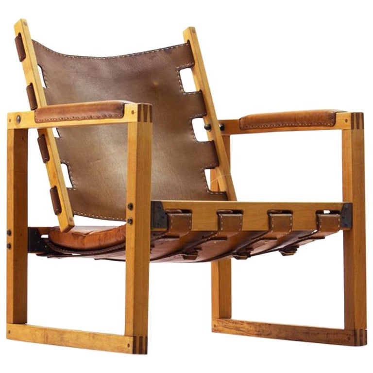 Leather Couches New Zealand: Safari Chair By Peder Hansen In Eucalyptus Wood And Cognac