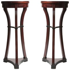 Pair of Russian Biedermeir Small Round Side Tables
