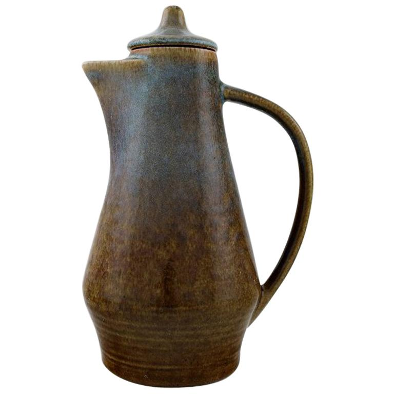 Carl Harry Stålhane for Rörstrand, Jug with Lid in Glazed Stoneware