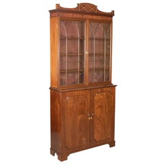 Antique Bookcase, English, Victorian, Mahogany, Display Cabinet, circa 1900