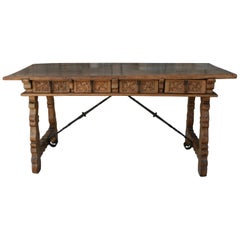 18th Century Walnut Spanish Table