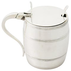 1965 English Sterling Silver Mustard Pot