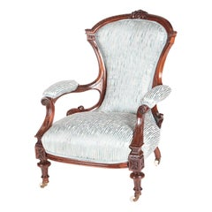 Quality Victorian Carved Hardwood Armchair