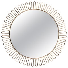 Wall Mirror 'in the Style of Josef Frank,' circa 1960s