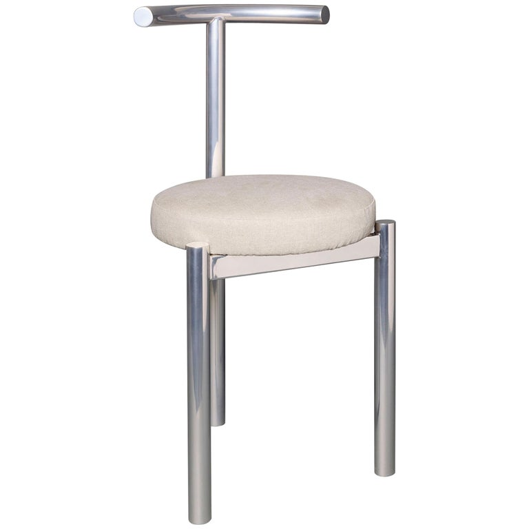 M Series -  Minimalist Stainless Steel Metal Soft Chair For Sale