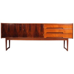 Midcentury Rosewood and Teak Sideboard by Younger
