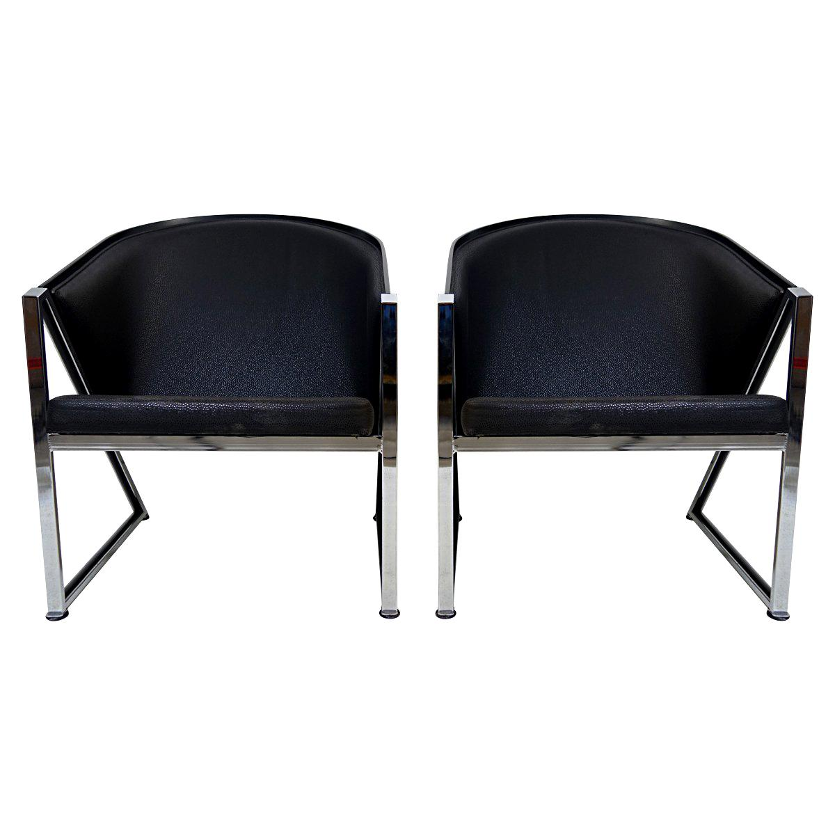 Pair of Mondi Soft Chairs by Finnish Designer Jouko Järvisalo for Inno