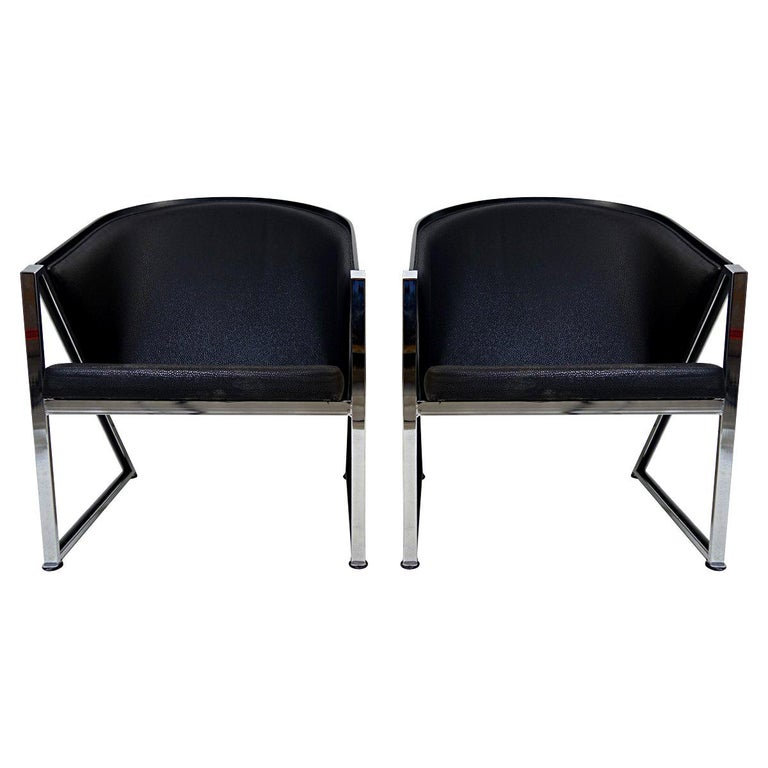 Pair of Mondi Soft Chairs by Finnish Designer Jouko Järvisalo for Inno For Sale