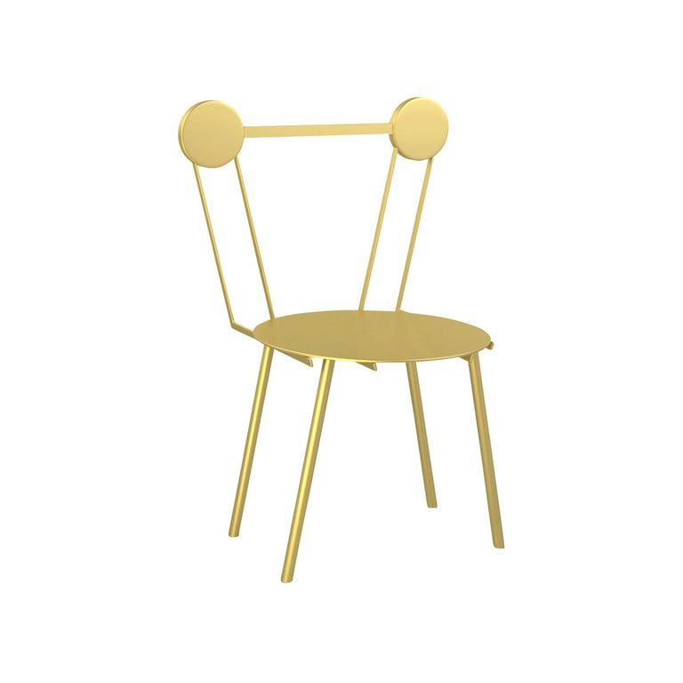 Set of Two Haly Gold Chair by Chapel Petrassi For Sale