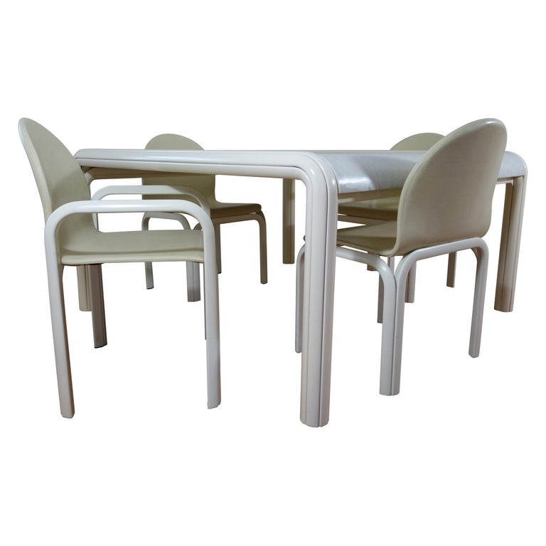 Midcentury Dining Set Orsay Designed by Gae Aulenti for Knoll International For Sale