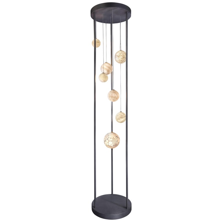 Planets Floor Lamp, Ludovic Clément d'Armont For Sale