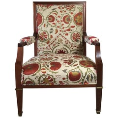 French Vintage Suzani Armchair