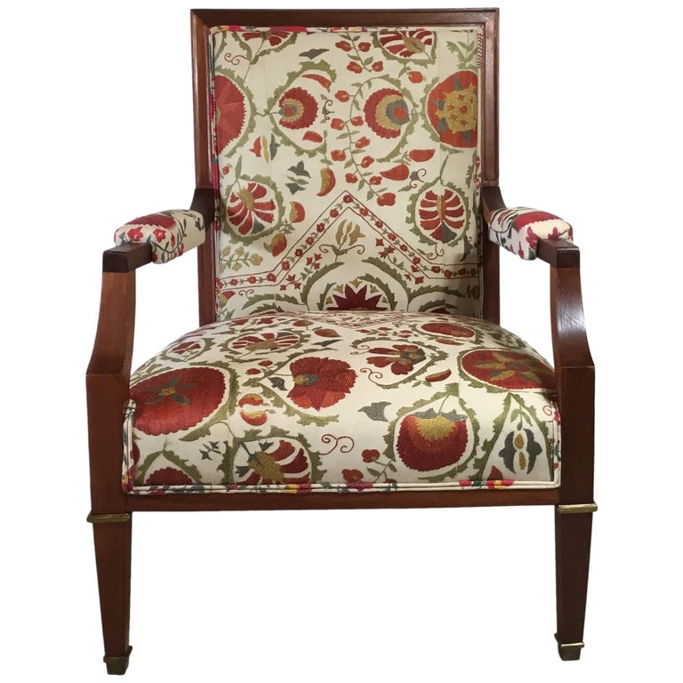 Swell French Vintage Suzani Armchair Ocoug Best Dining Table And Chair Ideas Images Ocougorg