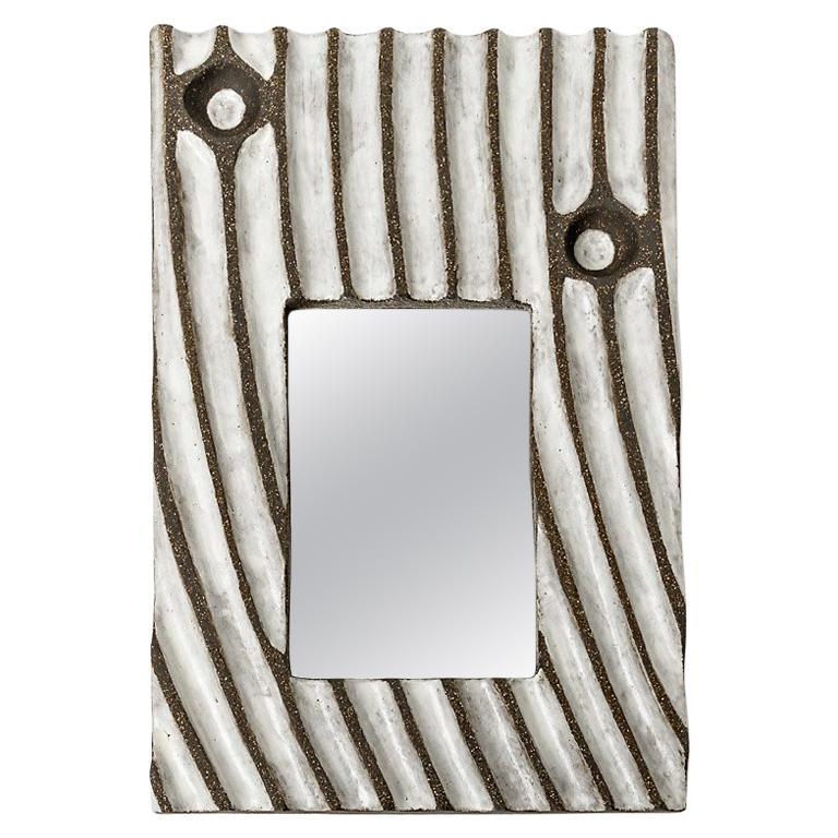 Ceramic Mirror by Hervé Taquet, 2019