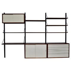 Poul Cadovius Royal Wall Unit in Wenge, Denmark, circa 1960
