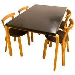 Alvar Aalto Table 81B and 68 Chairs by Finmar, 1950s