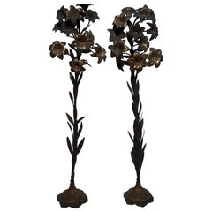Pair of 19th Century Liturgical Decoration Flower Pot, Italy