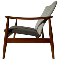 Finn Juhl FD 138 Teak Lounge Chair for France & Son