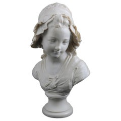 French Classical Composition Peasant Girl Portrait Bust after Grinam Niam