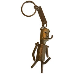 Whimsical Bronze Key Chain Sculpture or Art Object