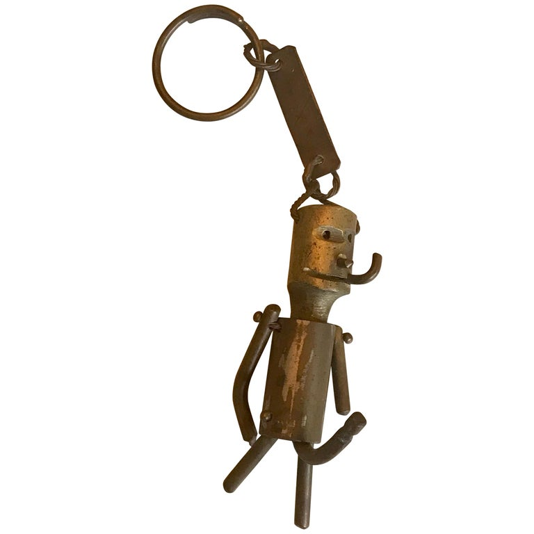 Whimsical Bronze Key Chain Sculpture or Art Object For Sale