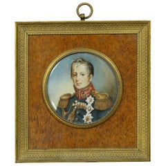 Portrait Miniature Of An Admiral, Possibly Horatio Nelson