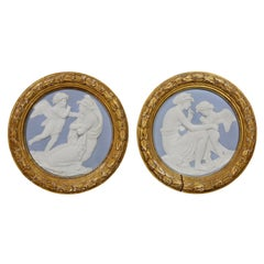 Pair of Sevres Style Biscuit Porcelain Plaques