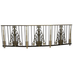 1931 NYC Waldorf Astoria Hotel Starlight Ballroom Art Deco Balcony Railing