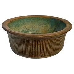 Tall Ceramic Bowl from Indonesia, Mid-20th Century