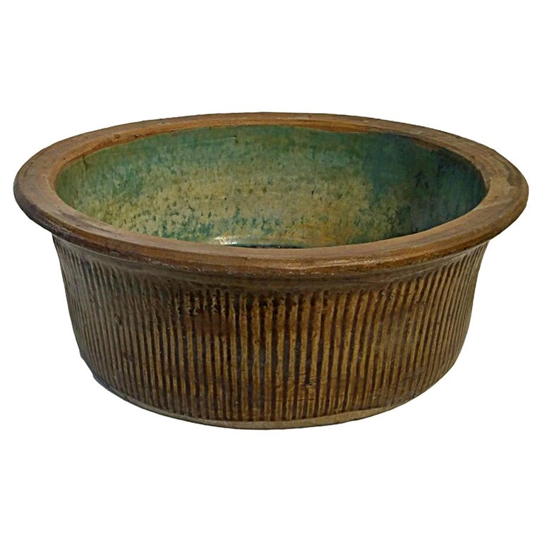 Tall Ceramic Bowl from Indonesia, Mid-20th Century For Sale