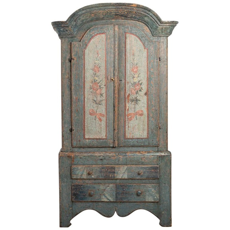 Turn of the Century 18th-19th Swedish Rococo Cabinet For Sale