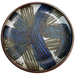 1965 Raul Coronel California Studio Pottery Abstract Charger