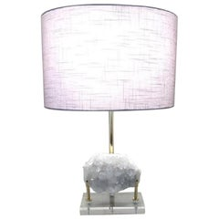 Gorgeous White Crystal Table Lamp