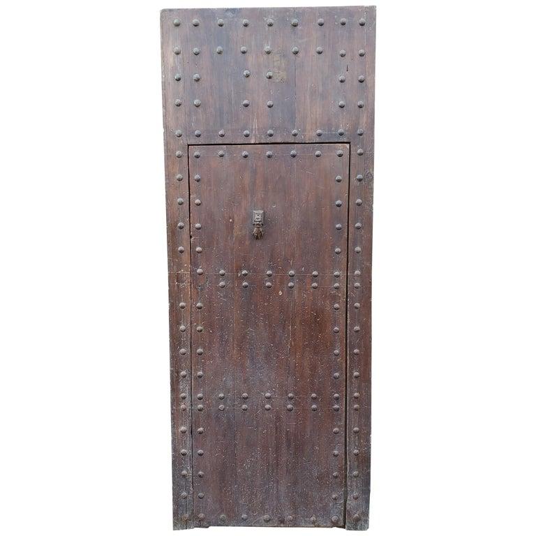 Old Brown Moroccan Wooden Door, 23MD38 For Sale