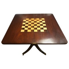 Boston Federal 19th Century Mahogany Flip Top Game Table
